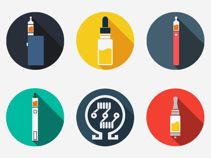 Vaping icons by Canha