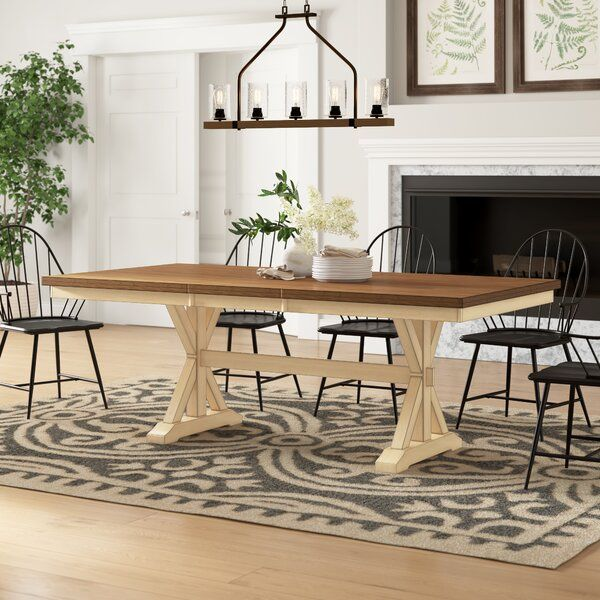 Kay Extendable Solid Wood Dining Table In 2020 Solid Wood Dining