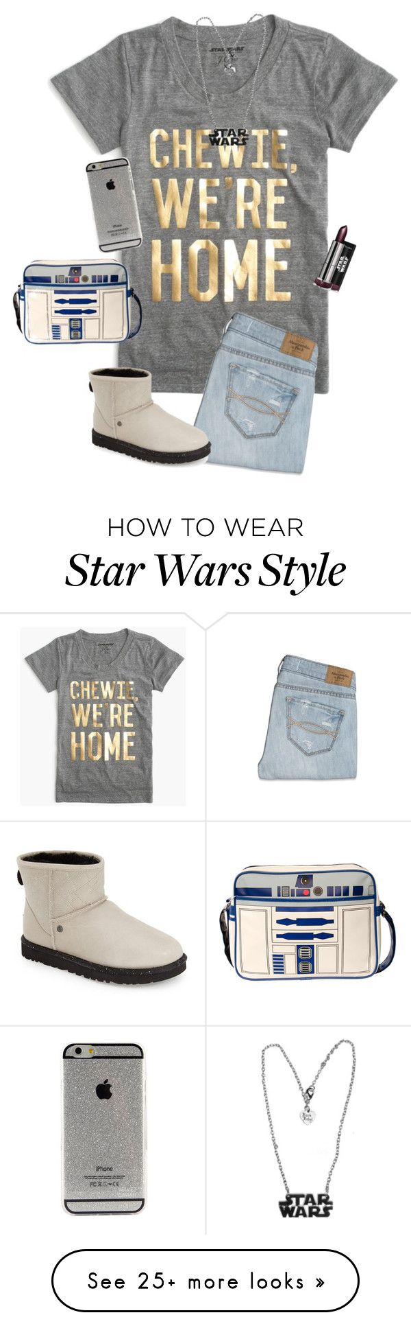 """""""Obsessed with Star Wars, I am."""" by hopemarlee on Polyvore featuring J.Crew, Abercrombie & Fitch and UGG Australia"""