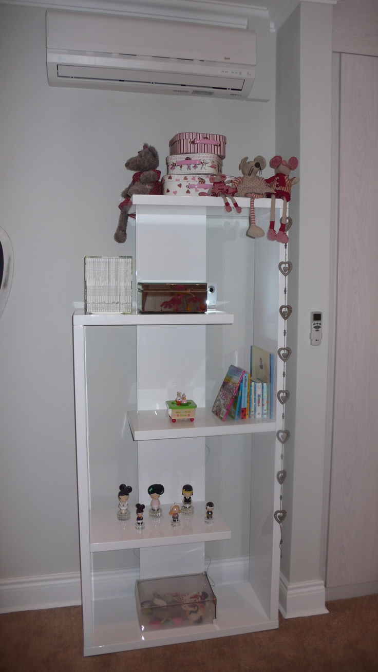 Shelves with toys