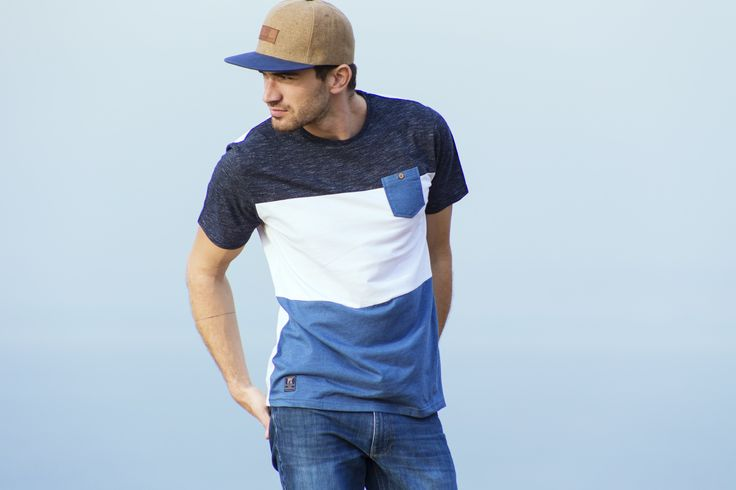 The Trenton Tee is bringing back the Cut and Sew with all the best Details. Combination of Twisted Yarn, Slub, Chambray accents, and wood button. We couldn't put anything else on this if we tried.    Cut and Sew Tee with Twisted Yarn, Slub Fabric, and Chambray Details  Made In India.  Style: PX5306K