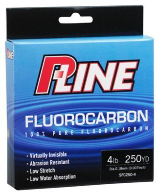 P-Line Fluorocarbon Fishing Line - Clear Fluorescent - 2000 Yards - 10 lb.