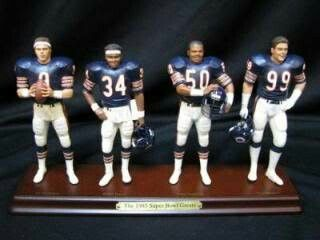 1985 Chicago Bears Toy. (from Left to Right) Jim McMahon, Walter Payton, Mike Singletary & Dan Hampton.
