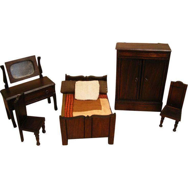 English Doll House Furniture Elgin Lines Bros Bedroom