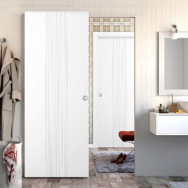Guía externa invisible para puerta corredera, indicada para puertas de madera. Apto para puertas de máximo 1 m. Fabricada en chapa galvanizada y con acabado en...