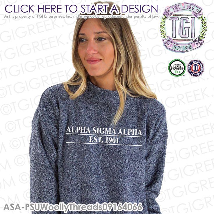 Alpha Sigma Alpha |  Woolythreads | Sorority Outerwear | Greek Pullover | Sisterhood | PR Sweatshirt  | Greek PR | TGI Greek | Greek Apparel | Custom Apparel | Sorority Tee Shirts| Sorority Tanks | Sorority T-shirts | Custom Outerwear