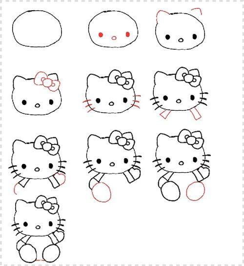 Como dibujar a Hello Kitty