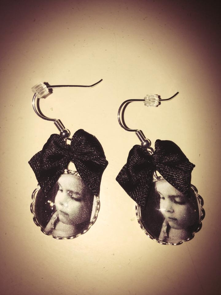 zelfgemaakte 'foto' oorringen