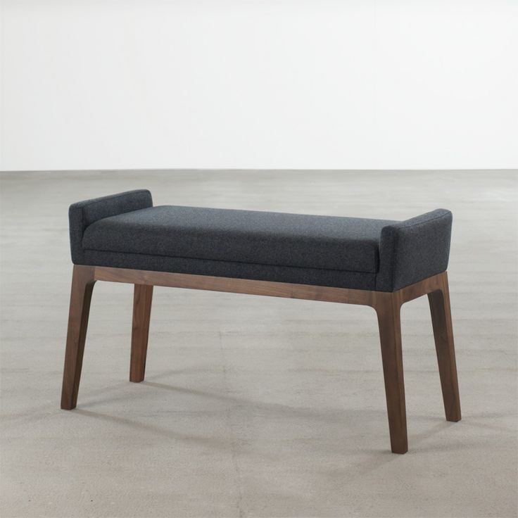 'Trident' Bench in Walnut - Benches + Stools - Seating