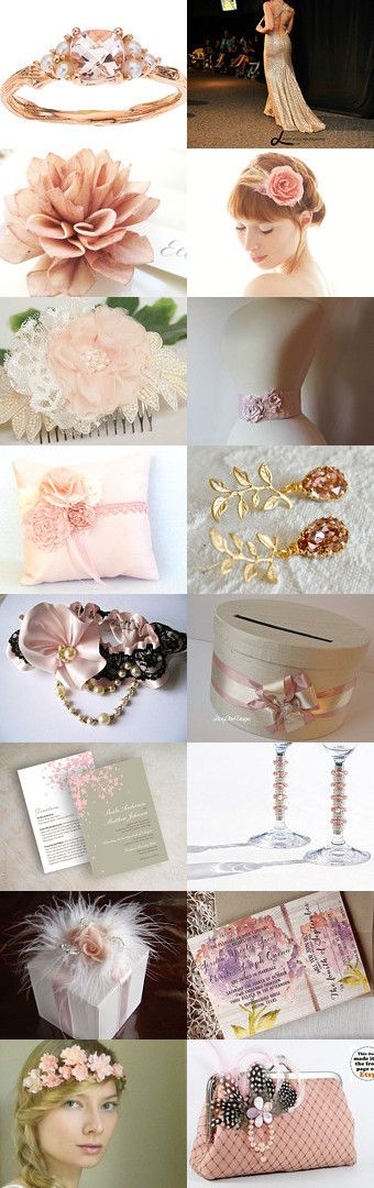 Dusty pink Wedding by Ruth on Etsy--Pinned with TreasuryPin.com