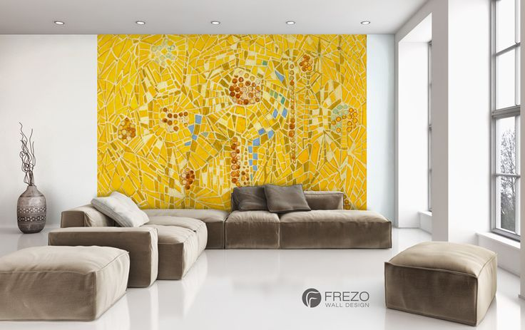 "Wallpaper ""Yellow Mosaic"" • WOO Design"