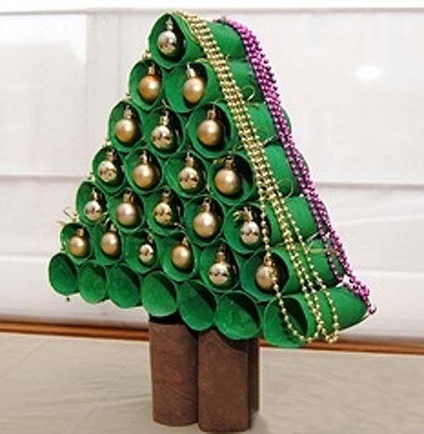 arbol de navidad | arbol-de-navidad-con-rollos-de-papel-higienico