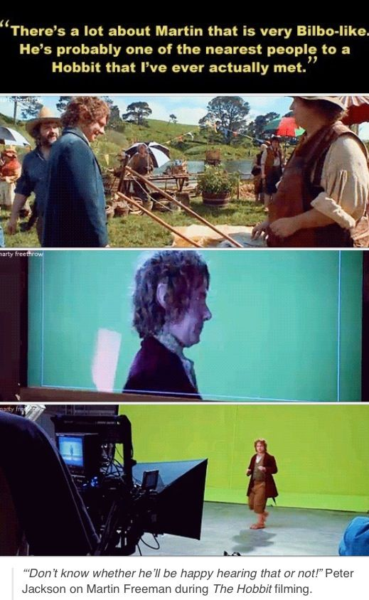 Peter Jackson on Martin Freeman during 'The Hobbit' filming