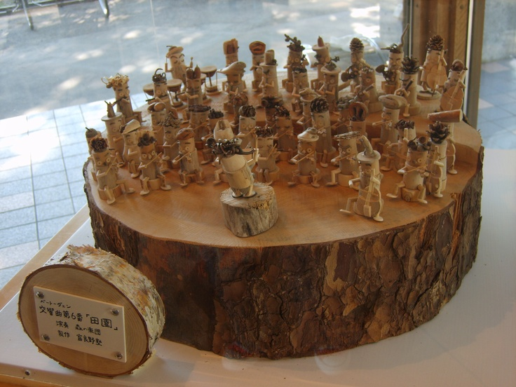 Wood carved orchestra from pinterest