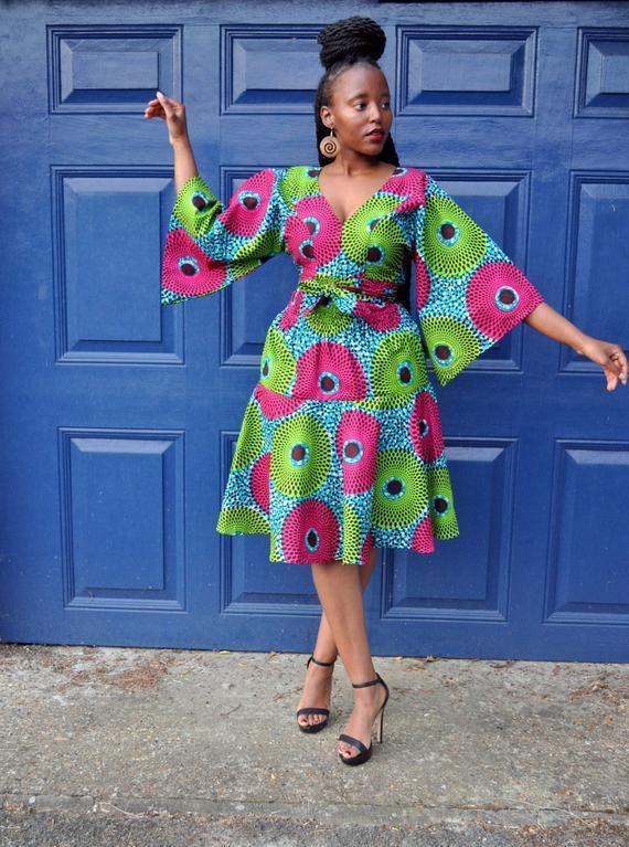 Jana Kimono Sleeve Dress Etsy African Print Fashion Dresses Latest African Fashion Dresses African Fashion Ankara