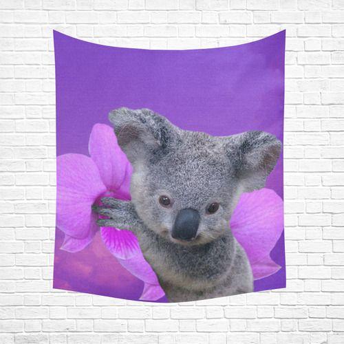 "Koala Cotton Linen Wall Tapestry 51""x 60"""