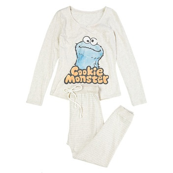 Long Sesame Street cotton pyjama