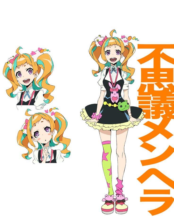 Tags: ficha de personagem, arte oficial, Gatilho (Studio), Yoneyama Mai, Imagem da capa, Kiznaiver, Niiyama Niko