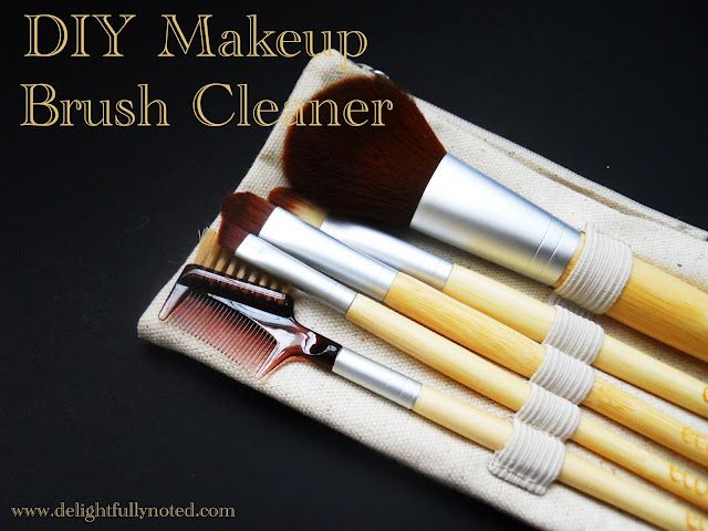 DIY Makeup brush cleaner.