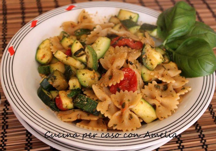 Farfalle con zucchine e spezie, ricetta   Cucina per caso con Amelia