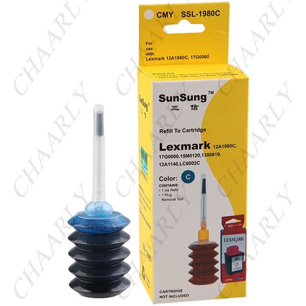 http://www.chaarly.com/printer-consumable/54651-27ml-cyanblue-ink-jet-cartridge-refill-kit-for-lexmark-printers-12a1980c-17g0060.html