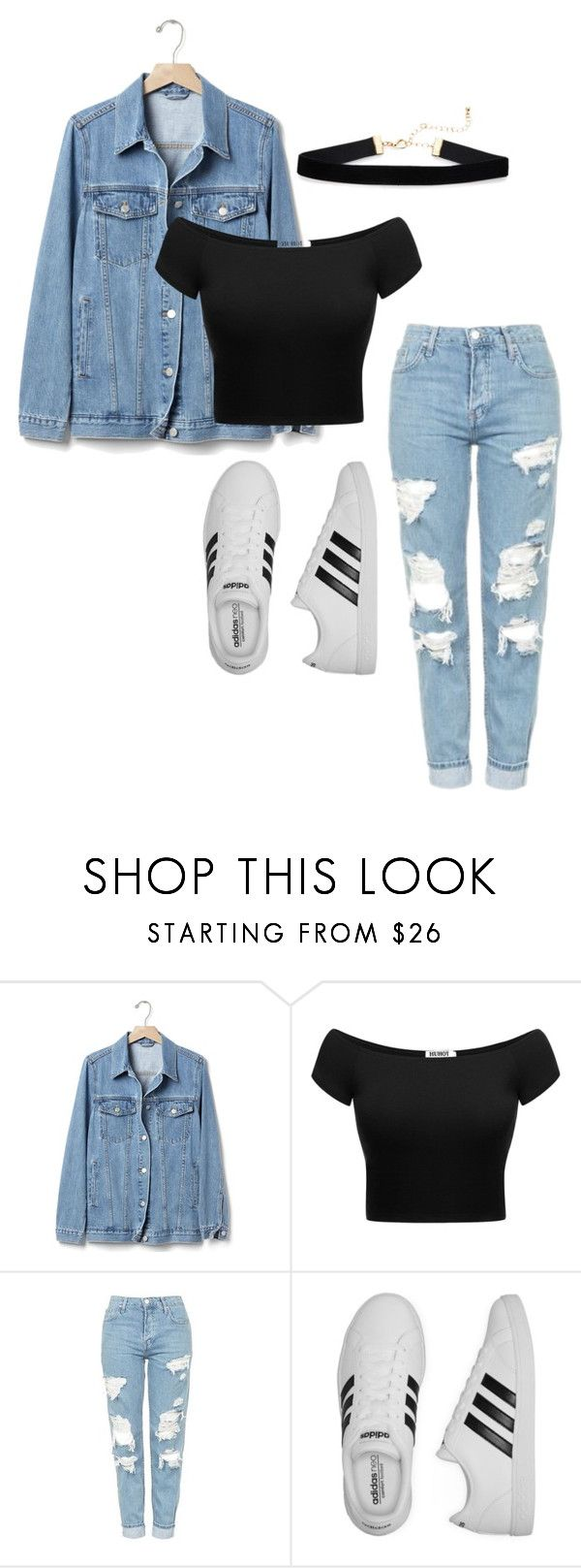 """wishcasu"" by joannachavez8 on Polyvore featuring Gap, Topshop and adidas"