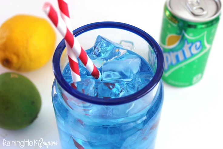 Copycat Sonic Ocean Water - INGREDIENTS: •3 tbsp Water •3 tbsp Sugar •1 tsp Coconut Extract •4 drop Blue Food Coloring •24 oz Sprite •Ice 2  DIRECTIONS: 1.Combine water and sugar in microwavable bowl. 3 2.Microwave for 45 seconds and stir to create a simple syrup. 3.Allow to cool, then add food coloring and coconut extract. 4.Mix well. 5.Add syrup to cold Sprite and serve over ice. Add Swedish fish for kids :)