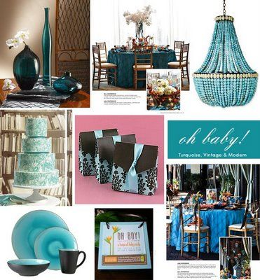 Tastefully Entertaining   Event Ideas & Inspiration: Oh Baby! Turquoise & Brown Baby Shower