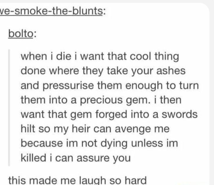 Could be an interesting idea for book... a haunted sword by the ashes..
