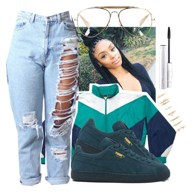 """""""Untitled #578"""" by the-fashion-fantasy on Polyvore featuring Dunlop, Puma, CÉLINE, Forever 21, MAC Cosmetics, denim, sporty, trend and distresseddenimm"""