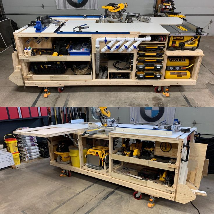 Do It Yourself Garage Workbench Plans: My Workbench / Mobile Project Center Inspired By DeWalt