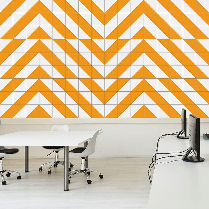Raiz Yellow Ceramic Tile // Azulejo Raiz Amarelo // Shop Online http://www.lurca.com.br/  #azulejos #azulejosdecorados #revestimentos #arquitetura #interiores #decor #design #sala #reforma #decoracao #geometria #casa #ceramica #architecture #decoration #decorate #style #home #homedecor #tiles #ceramictiles #homemade