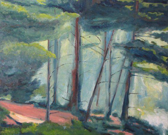 Art Original Oil Painting Landscape Forest by Fournierpainter