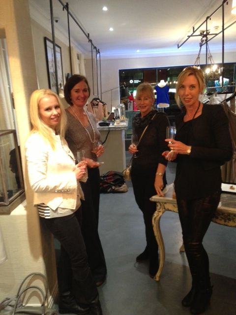Our beautiful clients sipping on champagne at french rendez vous boutique www.frenchrendezvous.com.au