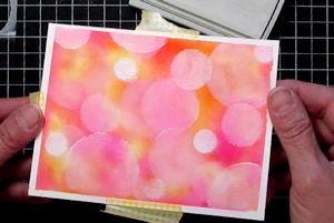 Watercolor Bokeh Tutorial - Splitcoaststampers