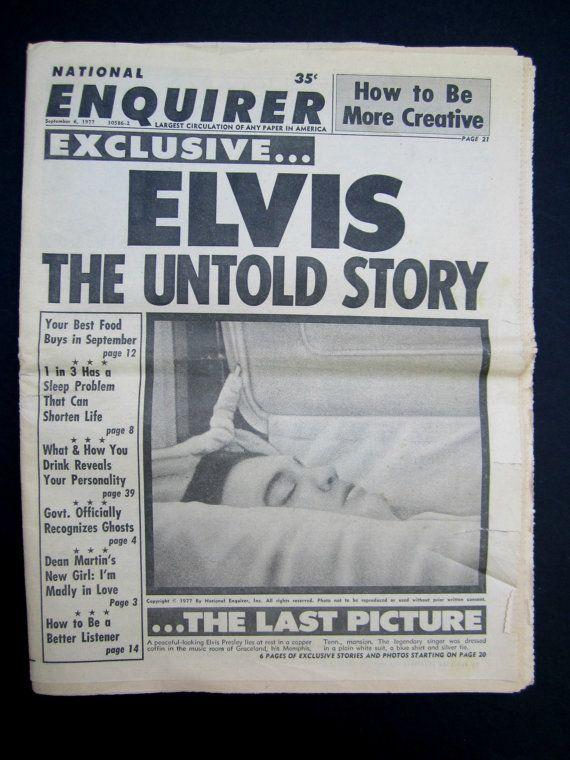 ✰ø Elvis #Presley Death of Elvis #Presley Elvis #Memorabilia by #GoshenPickers Vintage http://etsy.me/2fiDGQD