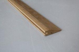 Barre de seuil à la suisse 22 x 70 mm en chêne massif - vue 1