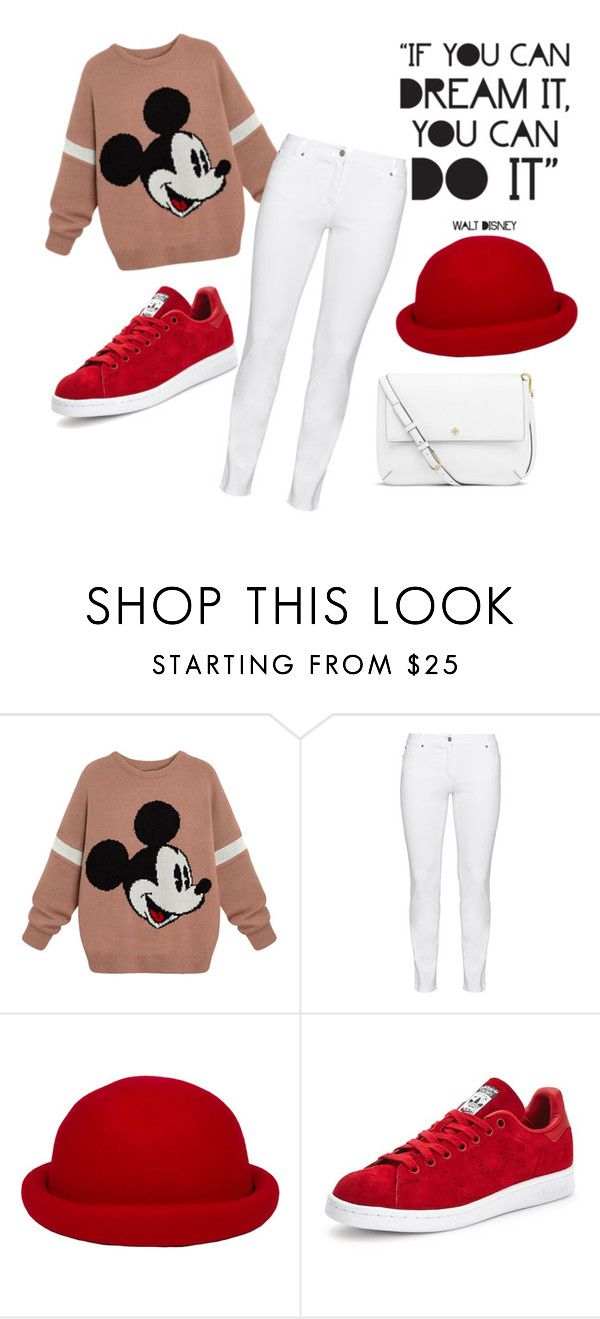 """Mickey xD"" by kyra07 ❤ liked on Polyvore featuring Steilmann, Disney, adidas and Tory Burch"