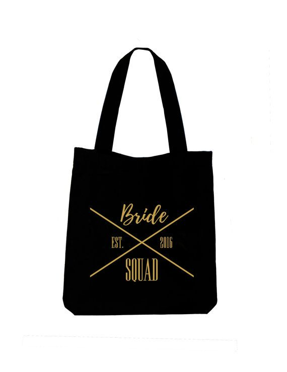 Bride Squad tote bag Ladies cotton canvas by ToastStationery