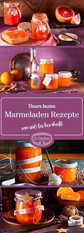 Marmelade bereichert nicht nur den Frühstückstisch, hübsch verpackt eignet sie sich auch wunderbar als Geschenk für Freunde und die Familie.