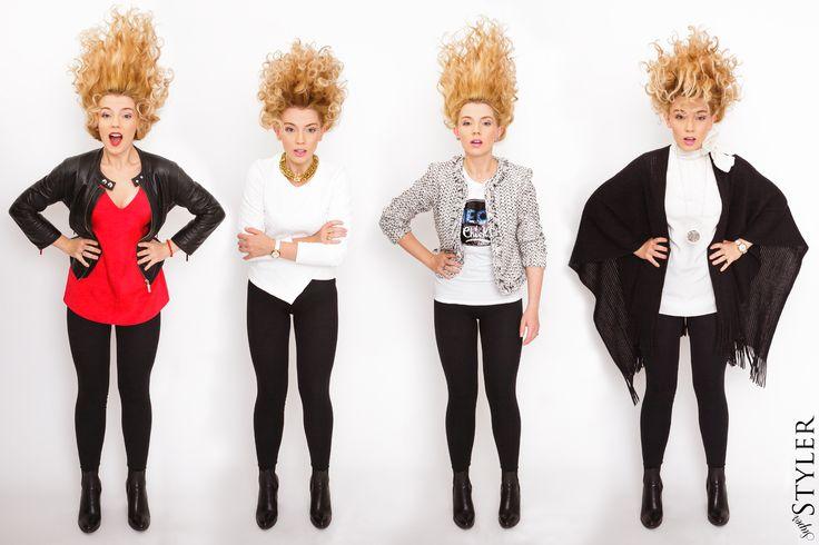 4 X czarne legginsy #legginsy #fashion #moda #superstyler