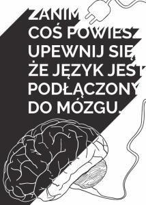 Myśl - plakat typograficzny 50x70 cm