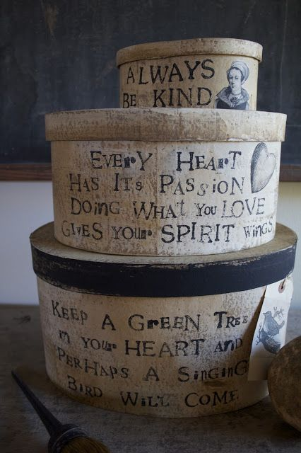 Hand Stamped Inspiration Boxes - a fine farmhouse