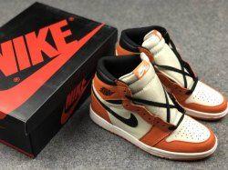 4b9d09665f3b Nike Air Jordan 1 Shattered Backboard Away 555088-113 Black Yellow Mens  Basketball Shoes