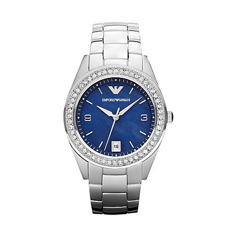 Emporio Armani Damenuhr AR5993 - Pantone Color of the Year 2014 - Dazzling Blue – selected by http://munich-and-beyond.com/