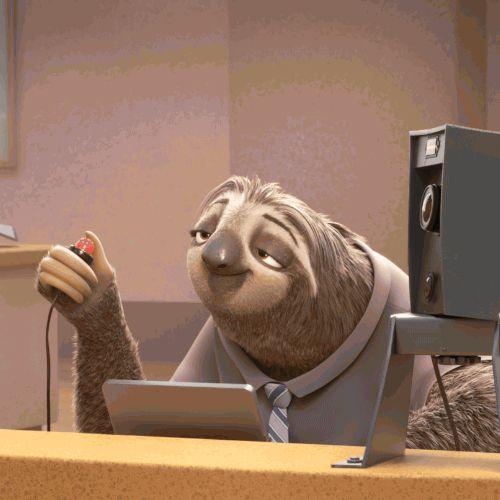 Zootopia sloth face celebrity