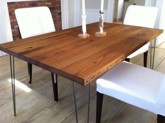 Captivating Modern Reclaimed Barnwood Dining Table Featuring By Scottcassin, $995.00