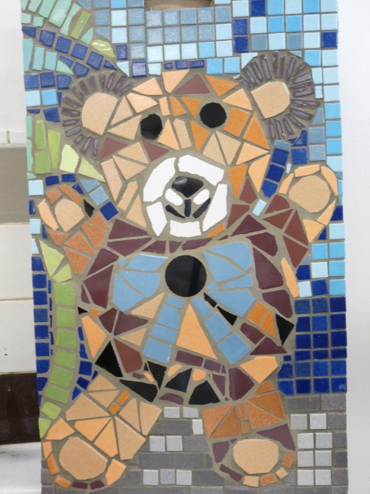 ours mosaique fabrication par un enfant
