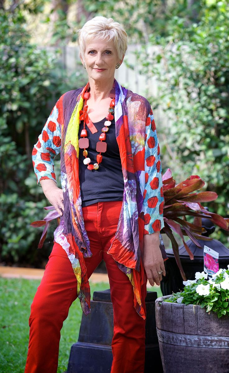 Summertime, high quality chiffon jacket. Colourful prints as the Caen