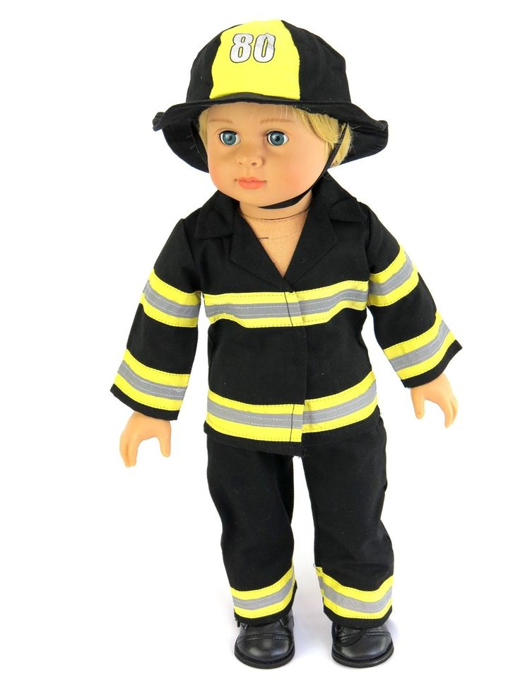 Fireman Outfit | Fits 46cm American Girl Dolls, Madame Alexander, Our Generation